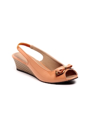 Do Bhai Women Peach Coloured Sandals