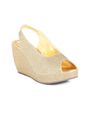 Do Bhai Women Gold-toned Wedges