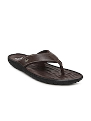 Dr. Scholl Men Brown Leather Sandals
