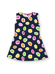 Dreamszone Girls Multicoloured Polka Dotted Dress