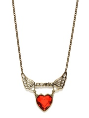 DressBerry Antique Gold Toned & Red Necklace