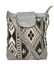 DressBerry Black & Grey Sling Bag