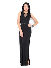 DressBerry Black Maxi Berry Dress