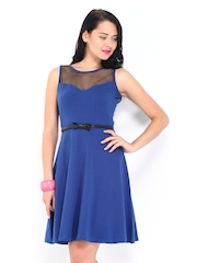 DressBerry Blue Flare Berry Dress