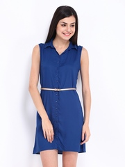 DressBerry Blue Collar Berry Dress