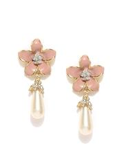 DressBerry Blush Pink & White Drop Earrings