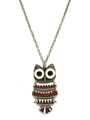 DressBerry Bronze Toned Owl Necklace