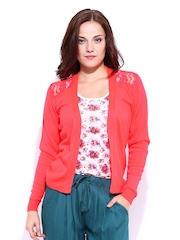 DressBerry Coral Red Winter Shrug
