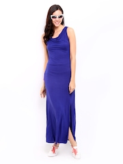 DressBerry Dark Blue Slit Berry Dress
