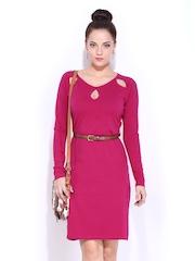 DressBerry Dark Pink Shaper Berry Dress