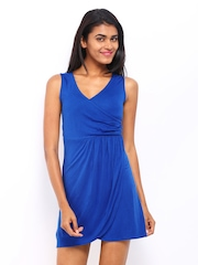 DressBerry Electric Blue Wrap Berry Dress