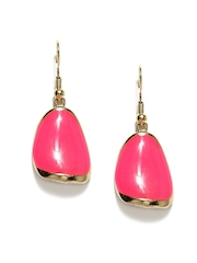 DressBerry Gold Toned & Pink Drop Earrings