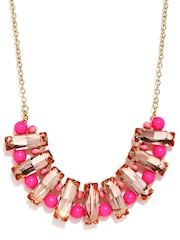 DressBerry Gold Toned & Pink Necklace