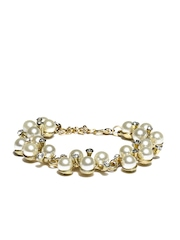 DressBerry Gold Toned & White Bracelet