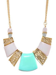 DressBerry Gold Toned & White Necklace