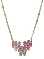 DressBerry Gold Toned Flower Necklace