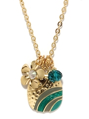 DressBerry Gold and Green Pendant with Chain
