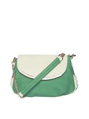 DressBerry Green & Off-White Shoulder Bag