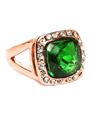 DressBerry Green & Rose Gold Toned Ring