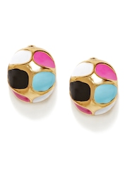 DressBerry Multi-Coloured Oversized Stud Earrings