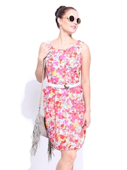 DressBerry Multicoloured Floral Printed Shaper Berry Dress