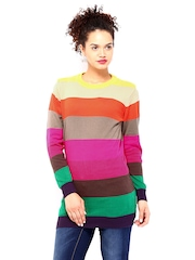 DressBerry Multicoloured Striped Sweater