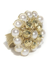 DressBerry Off-White & Gold-Toned Ring