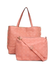 DressBerry Peach Coloured Handbag