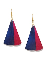 DressBerry Pink & Navy Drop Earrings
