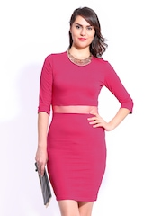 DressBerry Pink Cling Berry Dress
