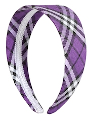 DressBerry Purple & White Checked Hairband