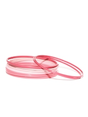 DressBerry Set of 9 Pink Bangles