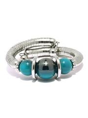 DressBerry Silver-Toned & Blue Bracelet