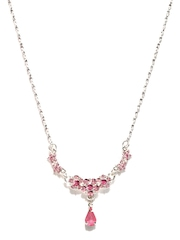 DressBerry Silver Toned & Pink Necklace