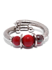 DressBerry Silver-Toned & Red Bracelet