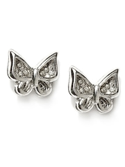 DressBerry Silver Toned Butterfly Shaped Earrings