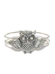 DressBerry Silver-Toned Cuff Bracelet