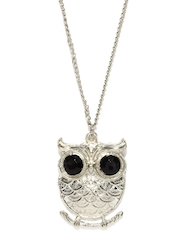 DressBerry Silver Toned Owl Necklace