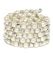 DressBerry White & Silver-Toned Bracelet