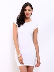 DressBerry White Lace Jersey Dress