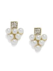 DressBerry White Oversized Stud Earrings