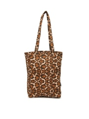 DressBerry Women Beige Animal Printed Tote Bag