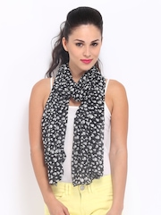 DressBerry Women Black & White Printed Scarf