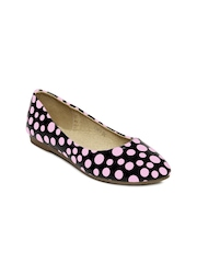 DressBerry Women Black & Pink Polka Dot Ballerinas