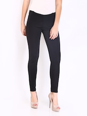 DressBerry Women Black Treggings