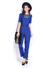 DressBerry Women Blue 70s Berry Jumpsuit