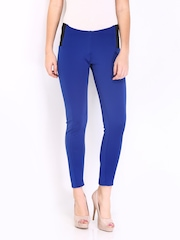 DressBerry Women Blue Treggings