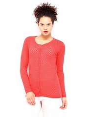 DressBerry Women Coral Red Sweater
