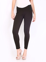 DressBerry Women Dark Brown Treggings