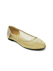 DressBerry Women Muted Gold-Toned Flat Shoes
